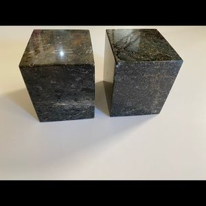 SOLID MARBLE BOOKENDS (12 lbs)